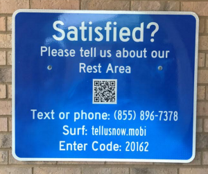 Visitor feedback in Florida rest areas