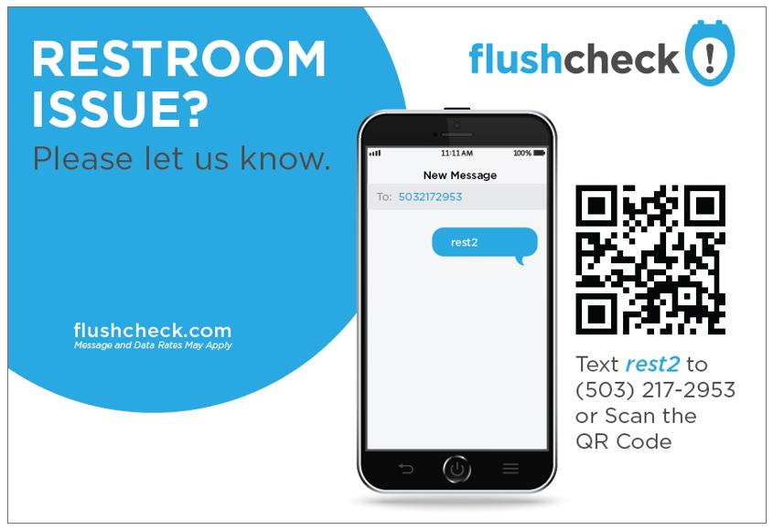 Phlush Award for Restroom Customer Feedback