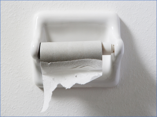 No toilet paper means unhappy customers