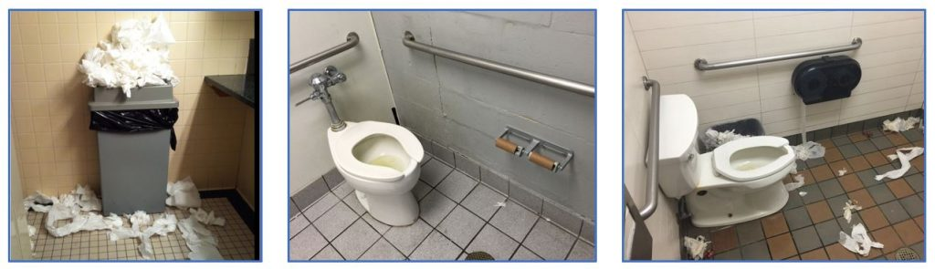 Restroom cleaning and maintenance Issues