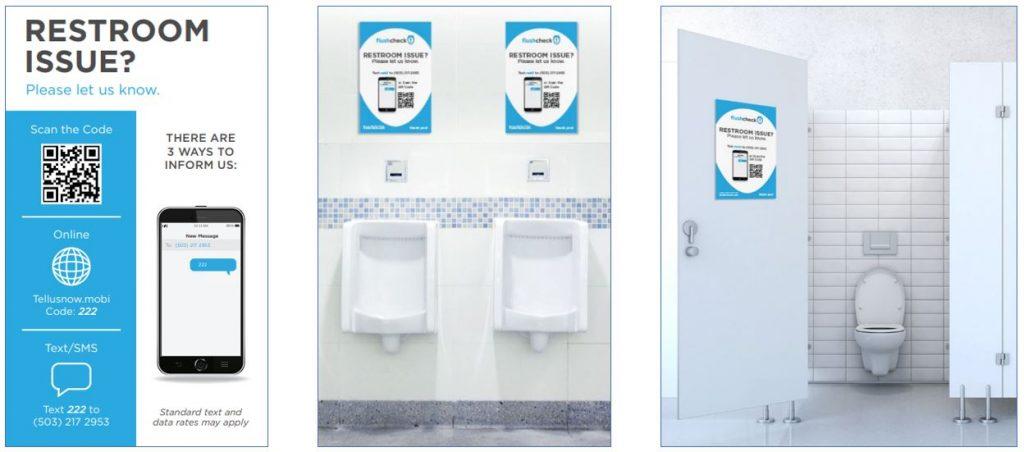 Flushcheck Signage for feedback