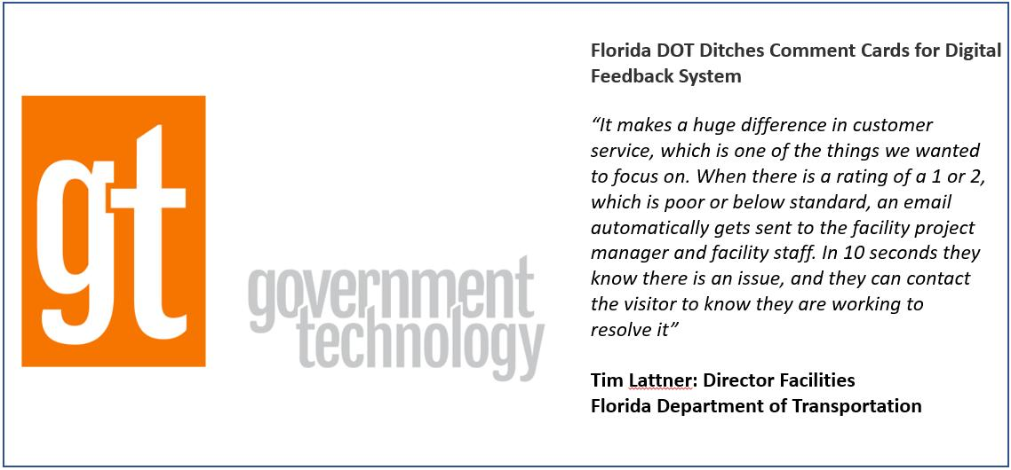 GovTech article on visitor feedback at Florida Rest Areas