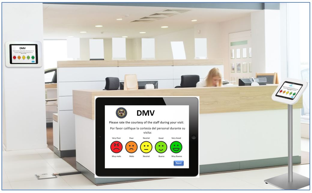 DMV driver feedback by tablet