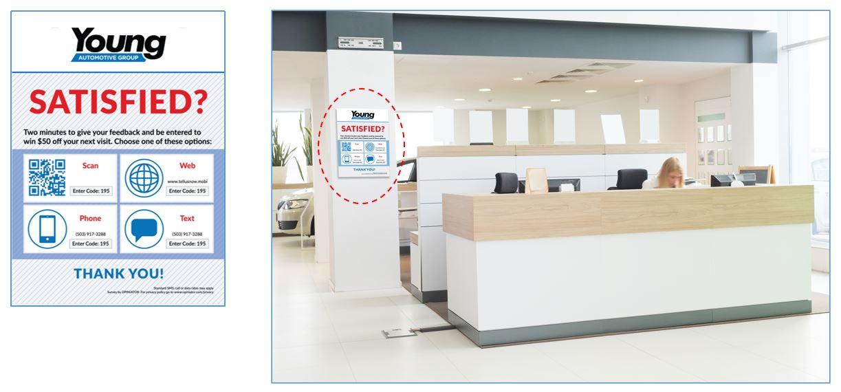 Auto Dealer customer feedback poster