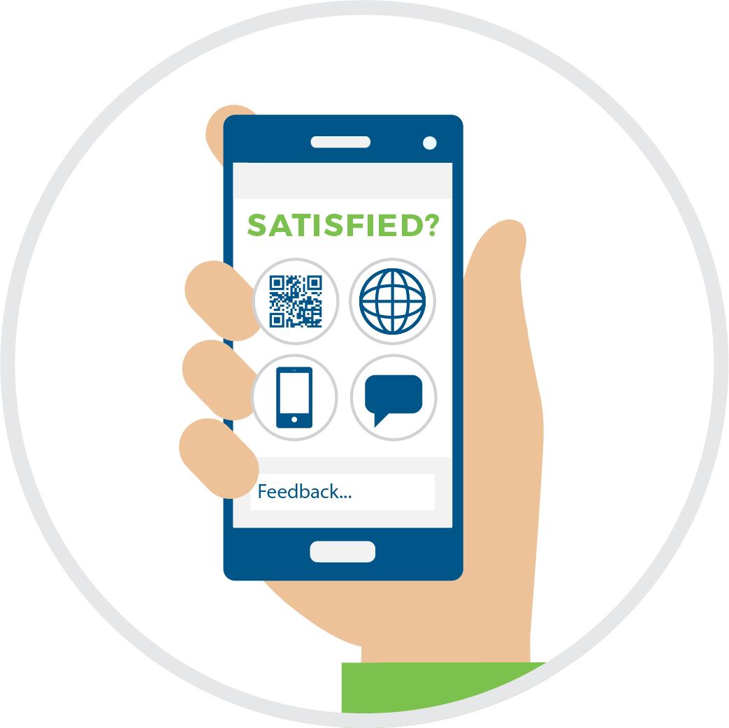 Customer feedback using the mobile phone