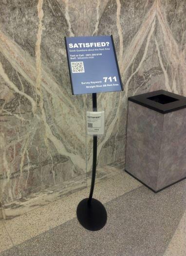 Portable feedback sign