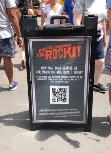 Outdoor feedback Sign Theme Park