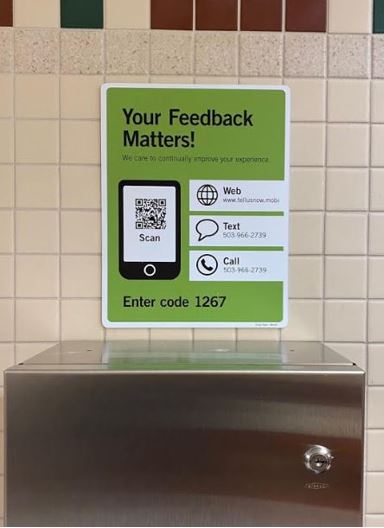 Outdoor Feedback Sign for a Zoo