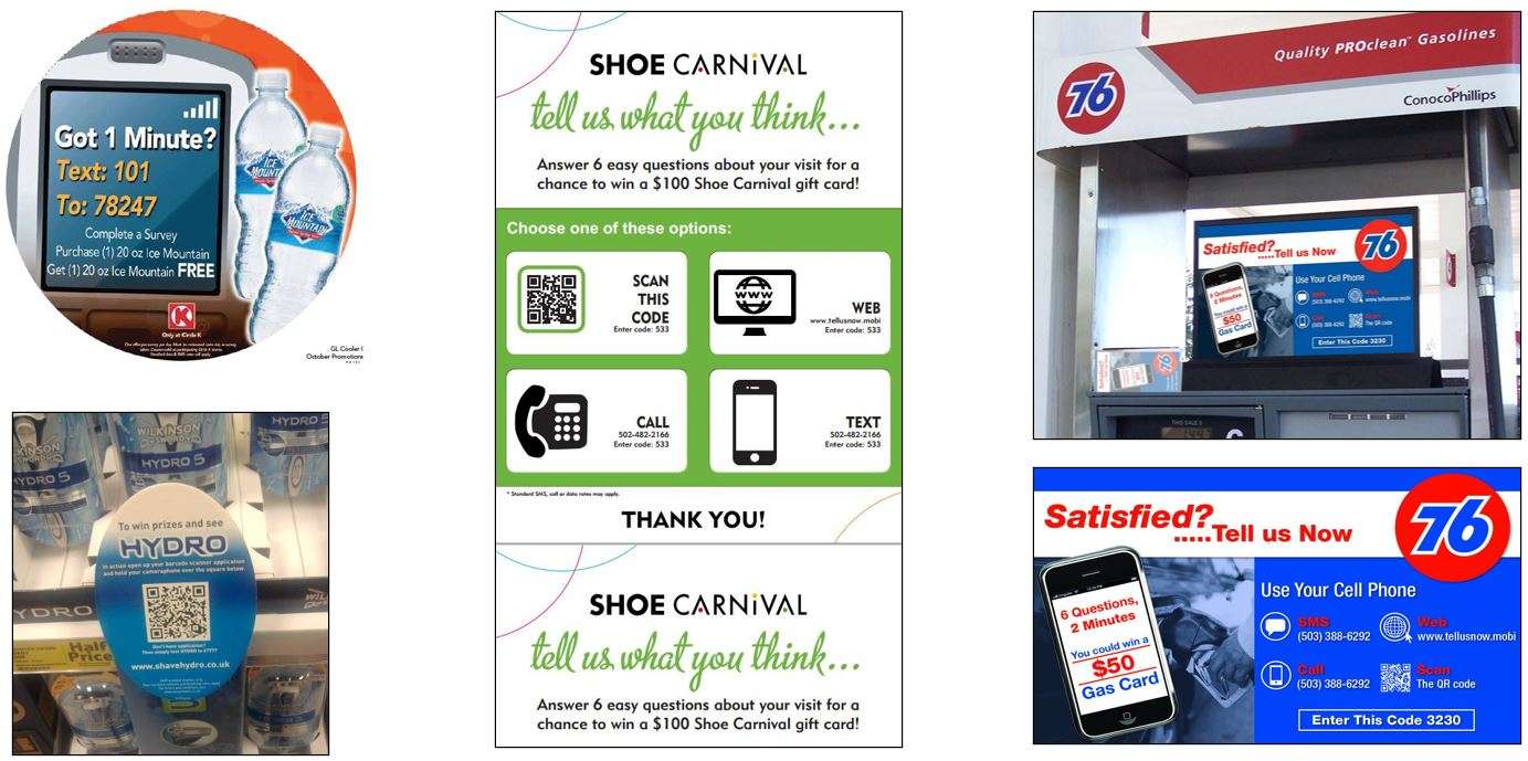 Retail Feedback by Cell Phone Signage